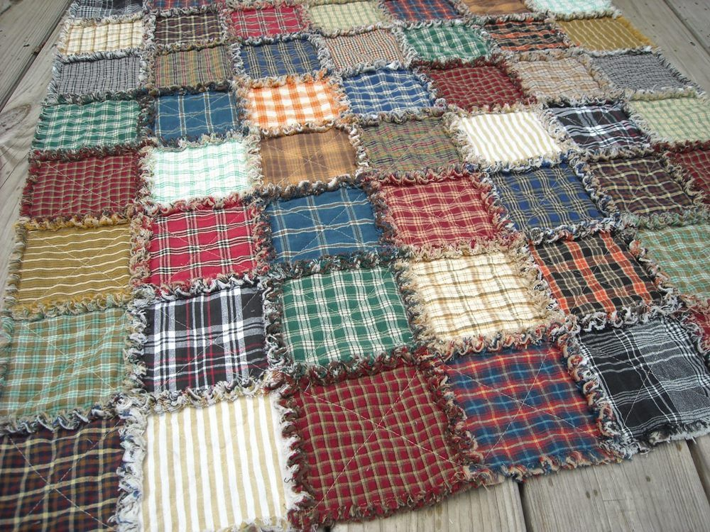 Super Plaid Rag Quilt Child or Lap size. Baby or Crib. $56.00, via ... : plaid quilt - Adamdwight.com