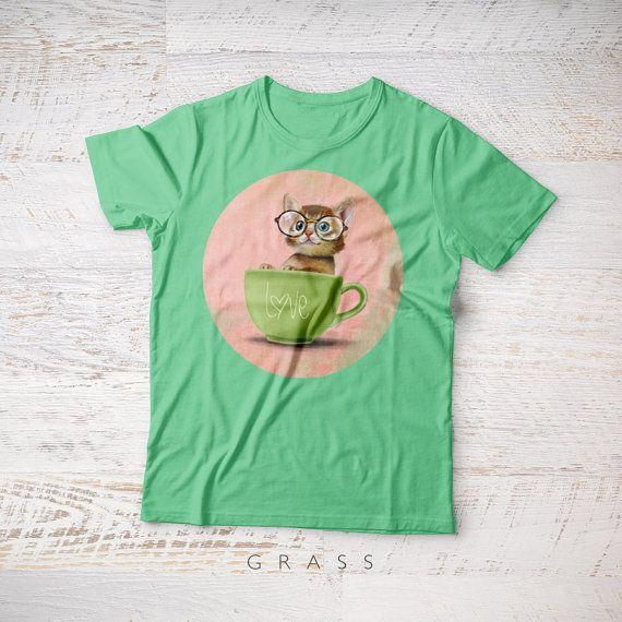 Kitten KIDS TSHIRT, kitten t-shirts kitten tee shirts 2 4 6 years birthday Christmas gift childrens tee kitten t-shirts cat pet tee shirt