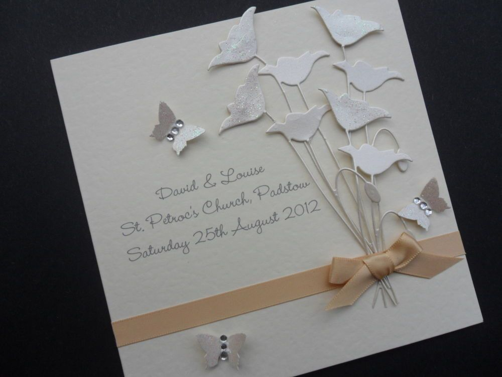 Personalised Handmade Wedding Marriage Engagement Congratulation Acceptance Card