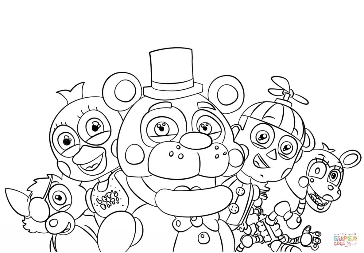 - Pin By Liz Rivera On Cricut Fnaf Coloring Pages, Cute Coloring Pages