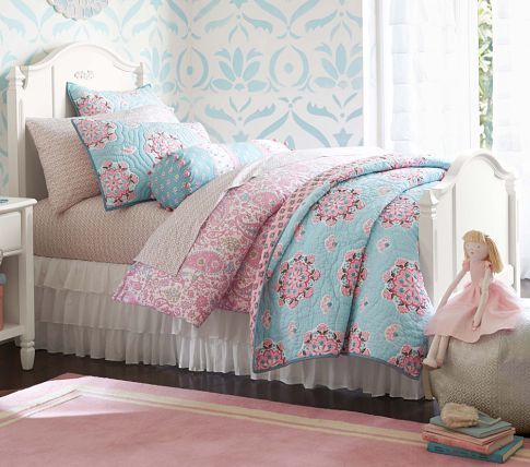 Brooklyn Quilted Bedding Pottery Barn Kids Girl Room