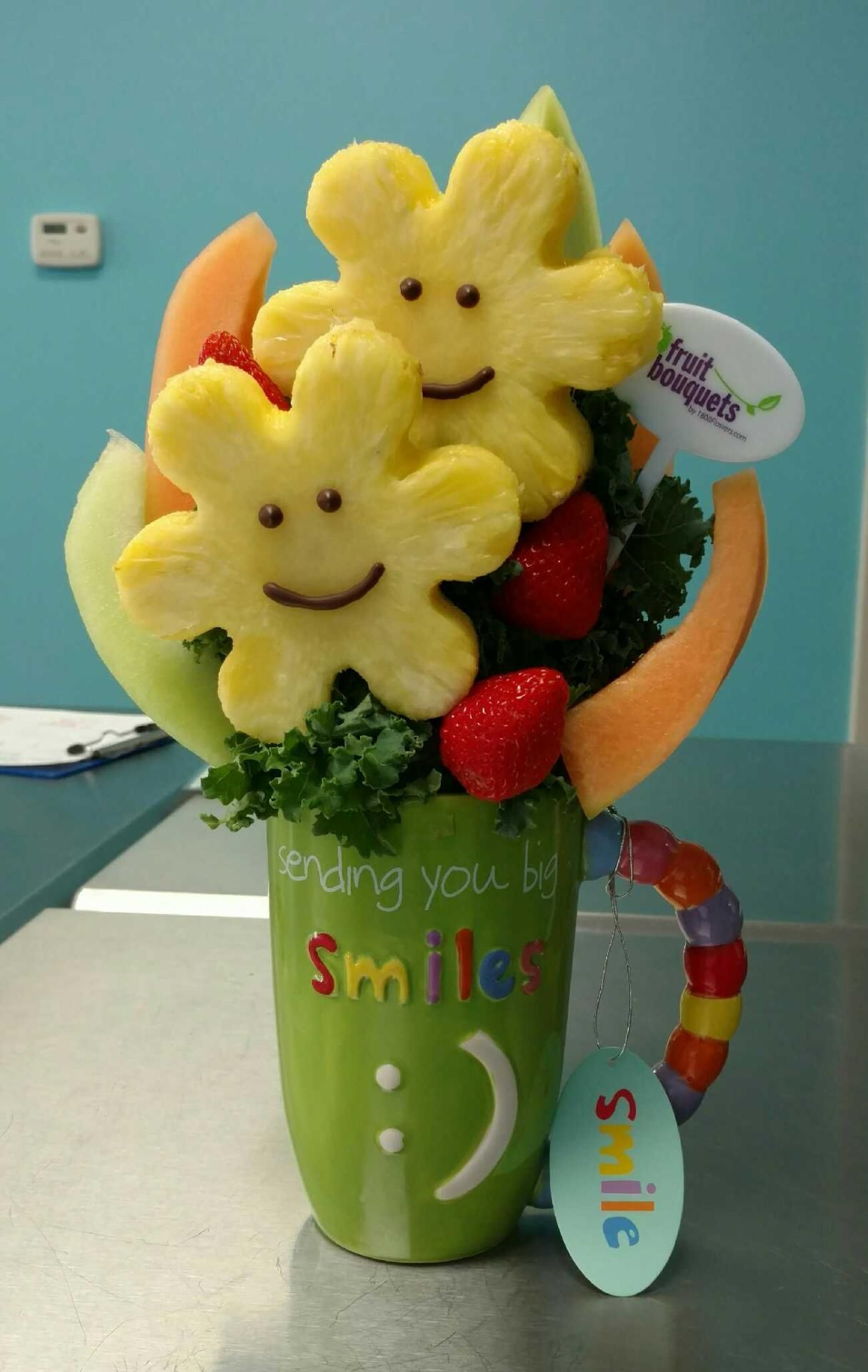 Mugable Sweet and Smiley - $49.99 | Fruit Bouquet | Pinterest | Smiley