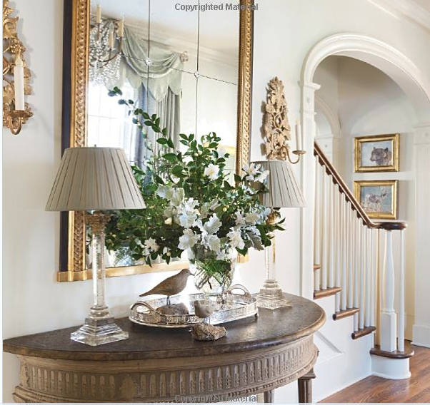 Elegant Foyer Furniture: Elegant Entry Vignette Combines Gilt With Touches Of