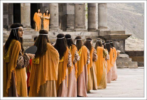 Garni temple Twenty-six kilometers east of the capital city of Yerevan stands the reconstructed pagan temple of Garni.