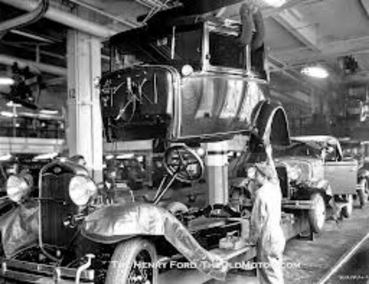 old ford assembly line ford usa pinterest ford cars and ford models. Black Bedroom Furniture Sets. Home Design Ideas