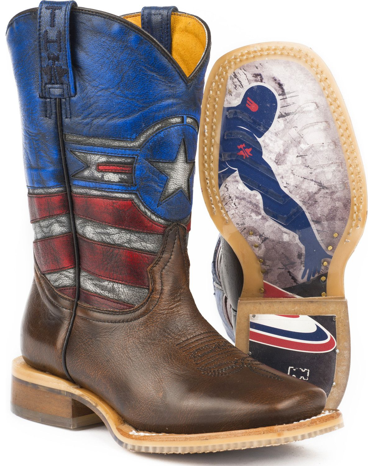 3e8d5f37375 Tin Haul Boys' Justice Cowboy Boots - Square Toe in 2019 | boots ...