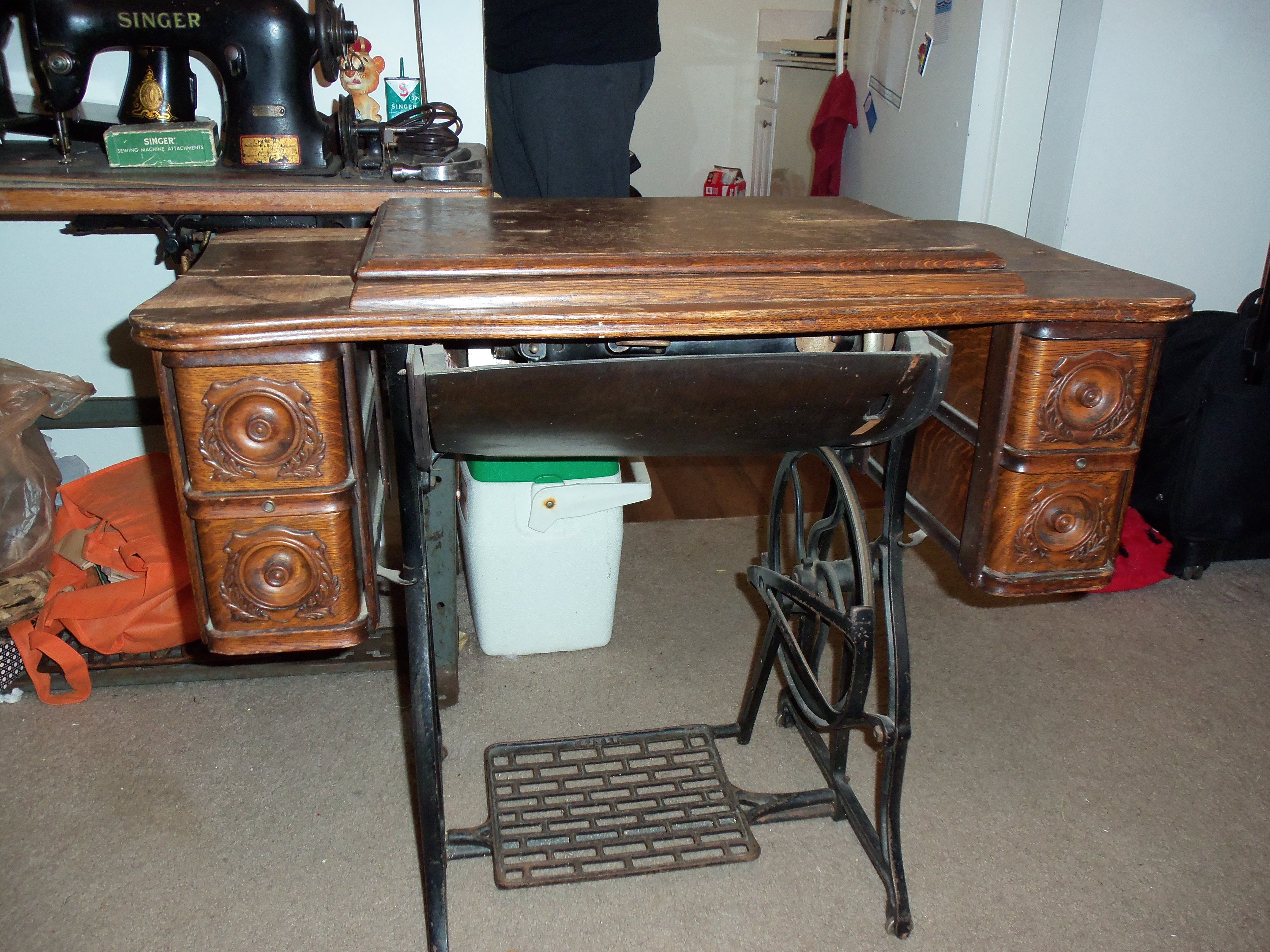 This is the Oak, 5 drawer treadle cabinet, currently searching for ...