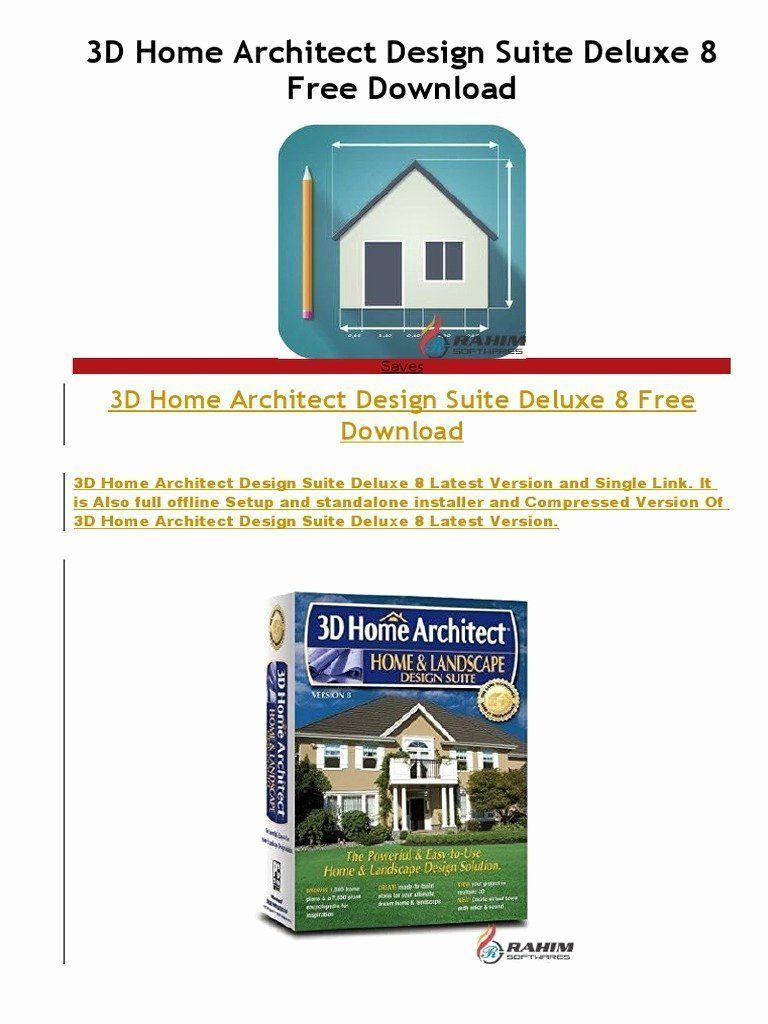Home Architect Design Suite Deluxe 8 Lovely 3d Home Architect Design Suite Deluxe 8 Free Downloadc In 2020 3d Home Design Design Suites Architect Design