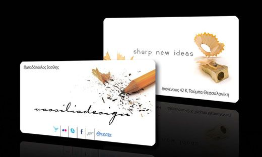 Business Card With Slogan Jpg 520 312 Pixels Business Cards