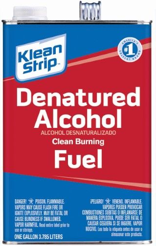 Klean Strip Gsl26 Denatured Alcohol 1 Gal Can Water White Liquid Cleaning Alcohol Degreasers