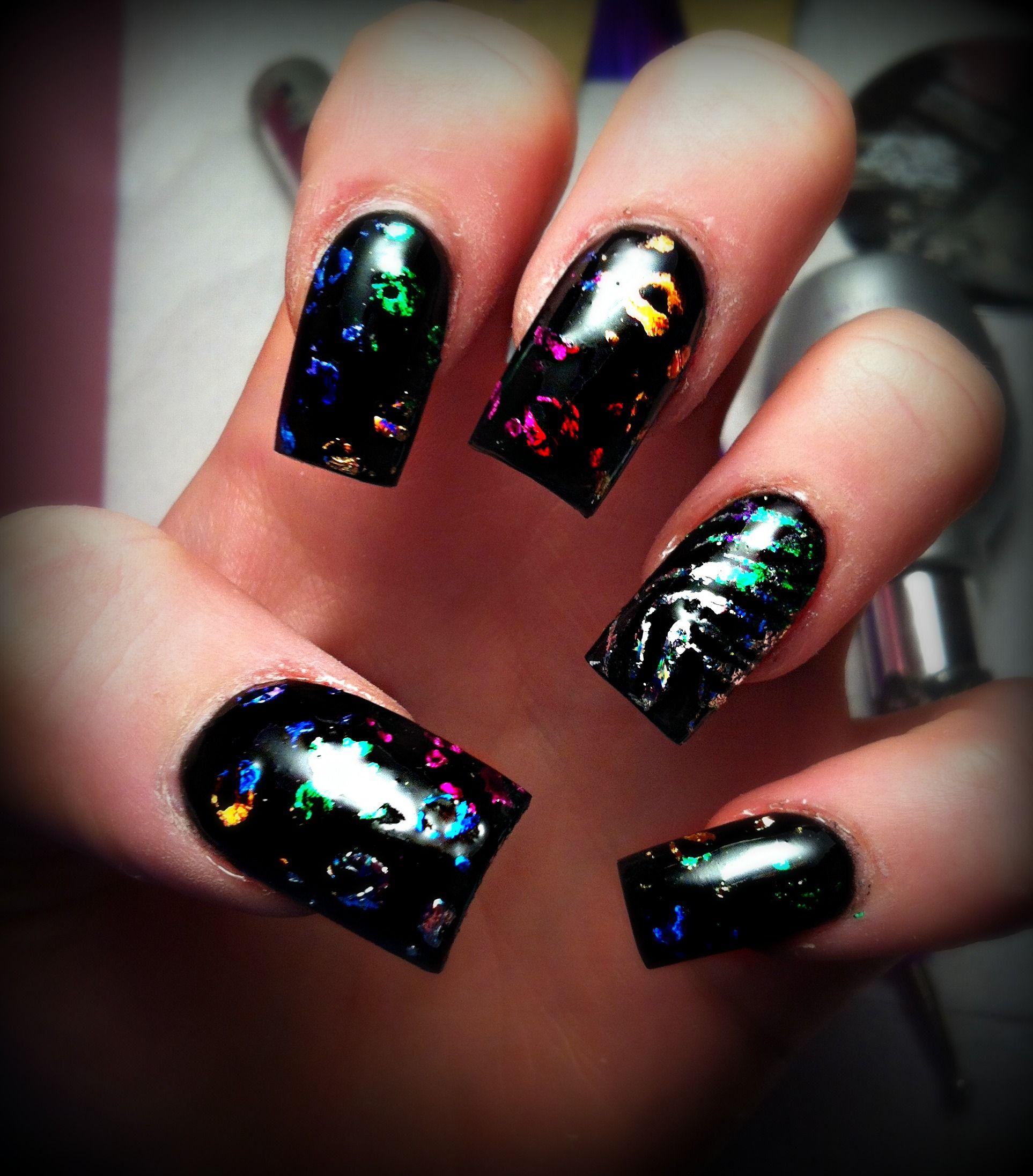 Rainbow Leopard print nail art | Leopard print nails