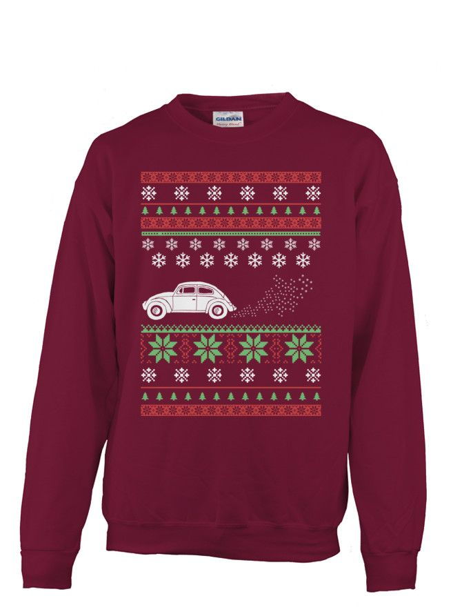 Limited Edition Car Ugly Christmas Sweater-Style | TeeChip | VW ...