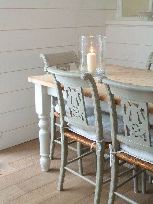 Marvelous Pastel Dining Room Chairs With A White Table