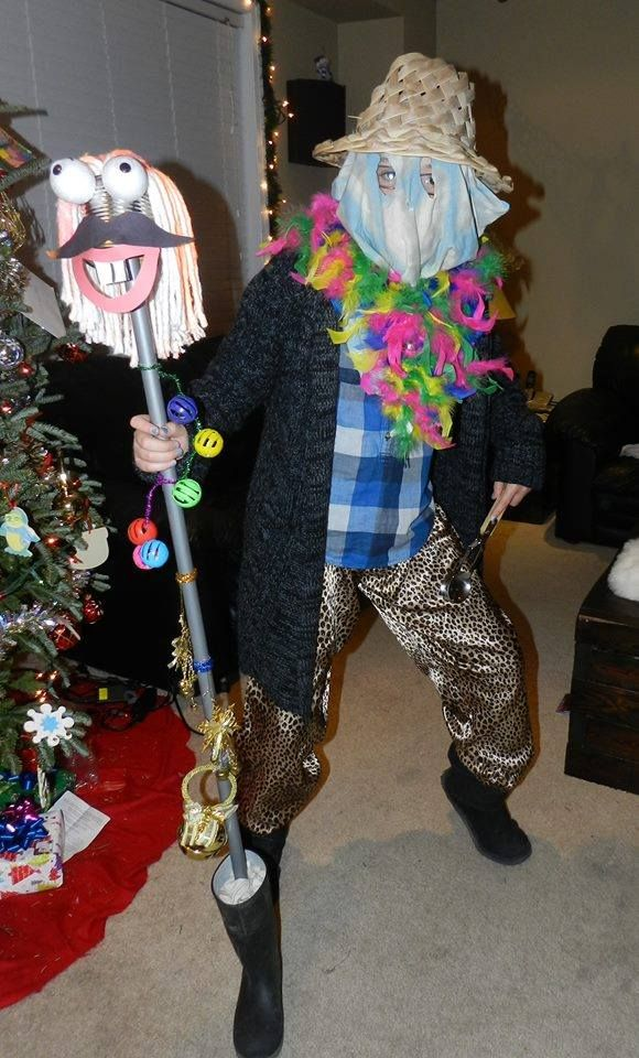 Newfoundland Mummer's that come around dressed in costumes