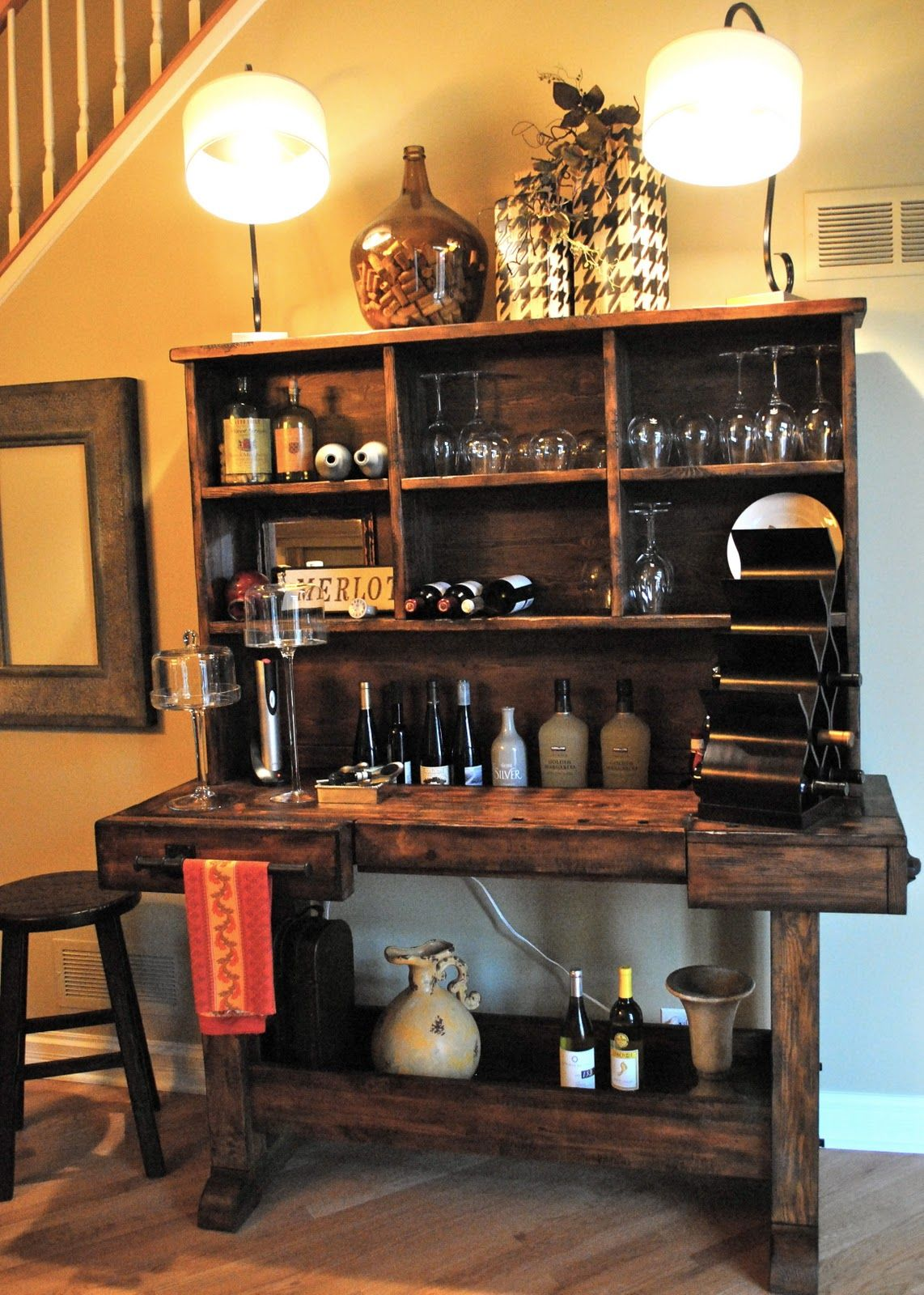 wine bar - pottery barn.. but I can have my Hubby or uncle Sam build ...