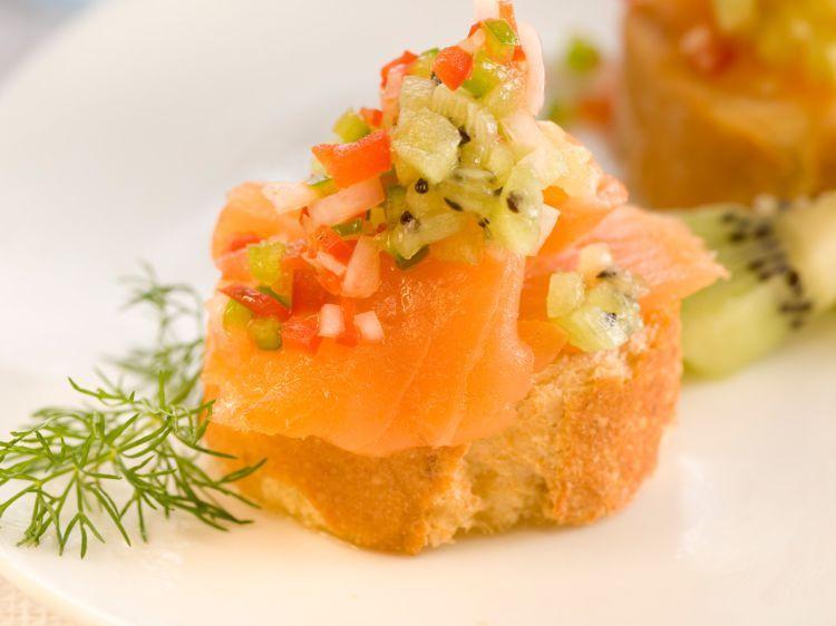 Amuse-bouche saumon kiwi - Recettes