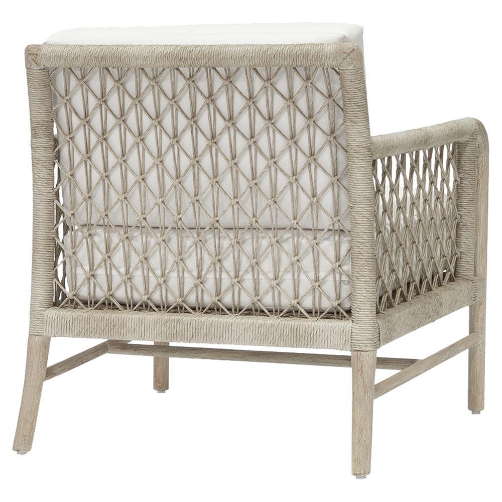 Palecek Montecito Coastal Beach Abaca Grey Woven Teak Wood Cushion Outdoor Lounge Chair In 2021 Lounge Chair Outdoor Outdoor Lounge Teak Wood