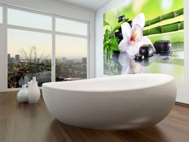 Badezimmer-Ideen-kleine-Baeder-Bambus-Orchidee-modern badezimmer - badezimmer ideen für kleine bäder