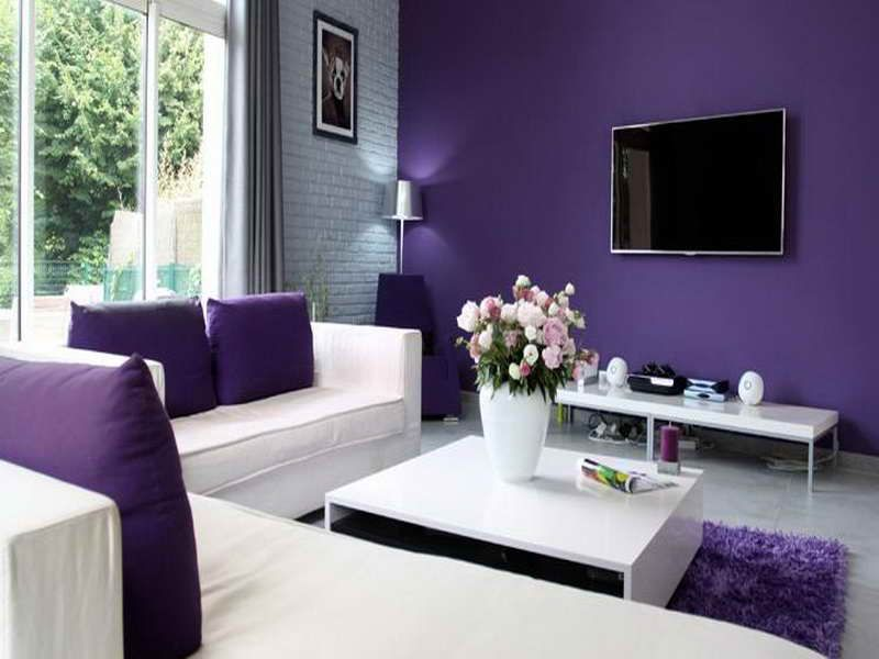 Interior Paint Design Ideas For Living Rooms Purple Paint Color For Living Room  Modern Home Interior Design