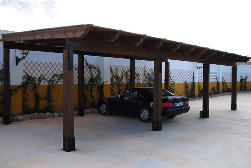 Wood carports designs build the best for your car for Garage with carport plans