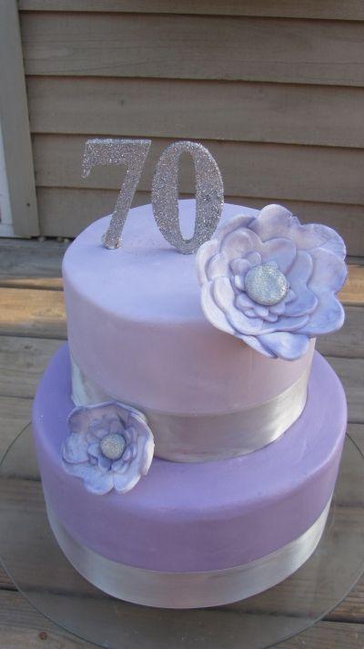 70th Birthday Cake Bolos De Aniversario Bolo Bolo De Biscuit