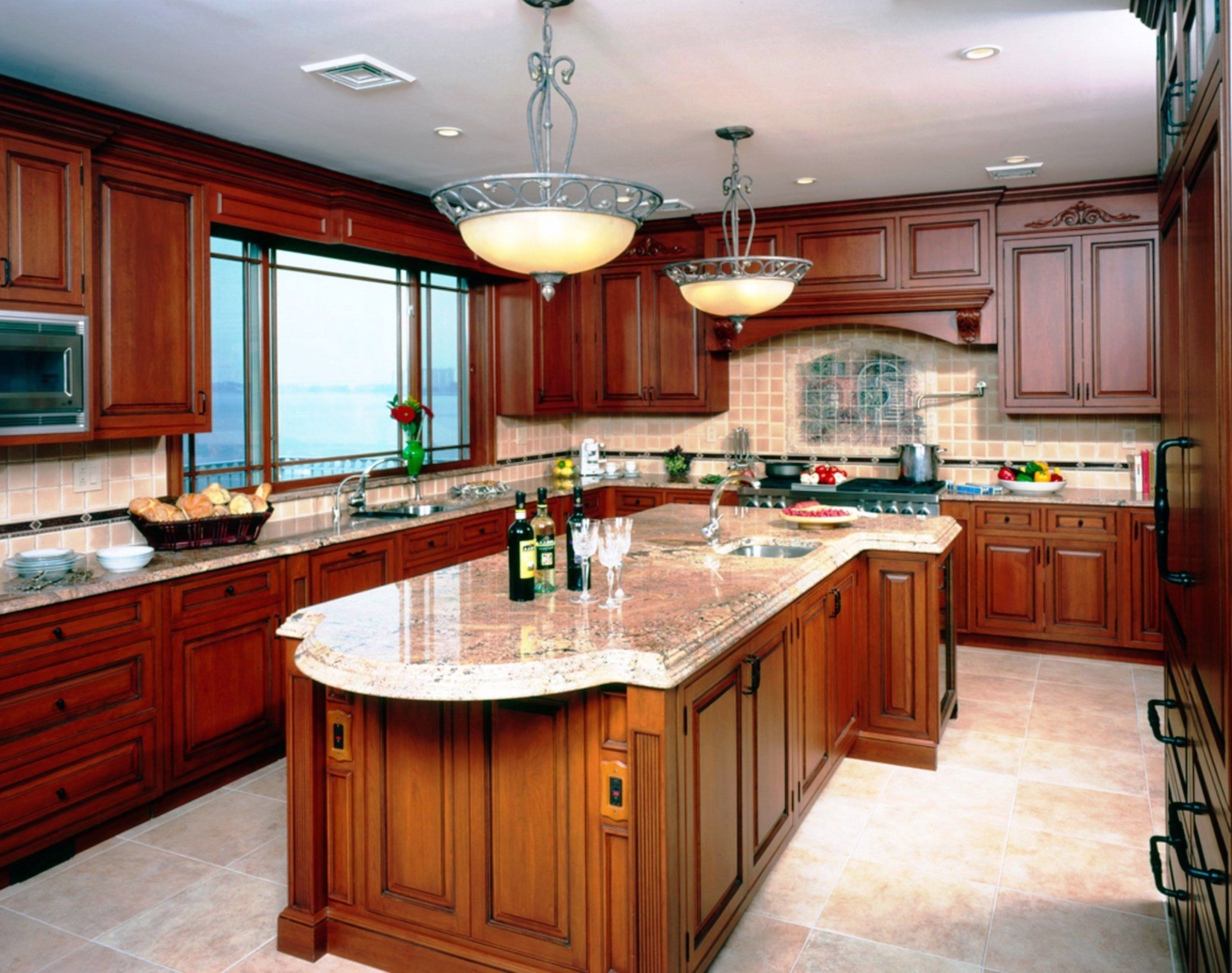 Kitchen Color Ideas With Cherry Cabinets Wooden Home Design Idea
