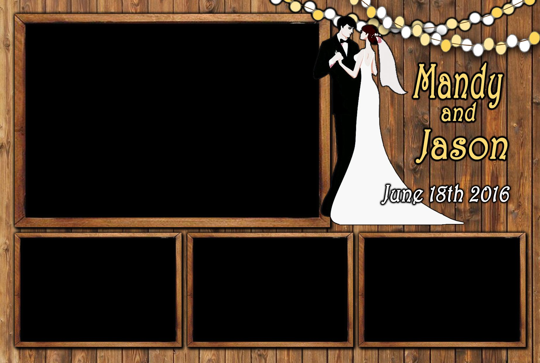 the looking glass rustic wedding photo booth template from our saloon booth free wedding. Black Bedroom Furniture Sets. Home Design Ideas