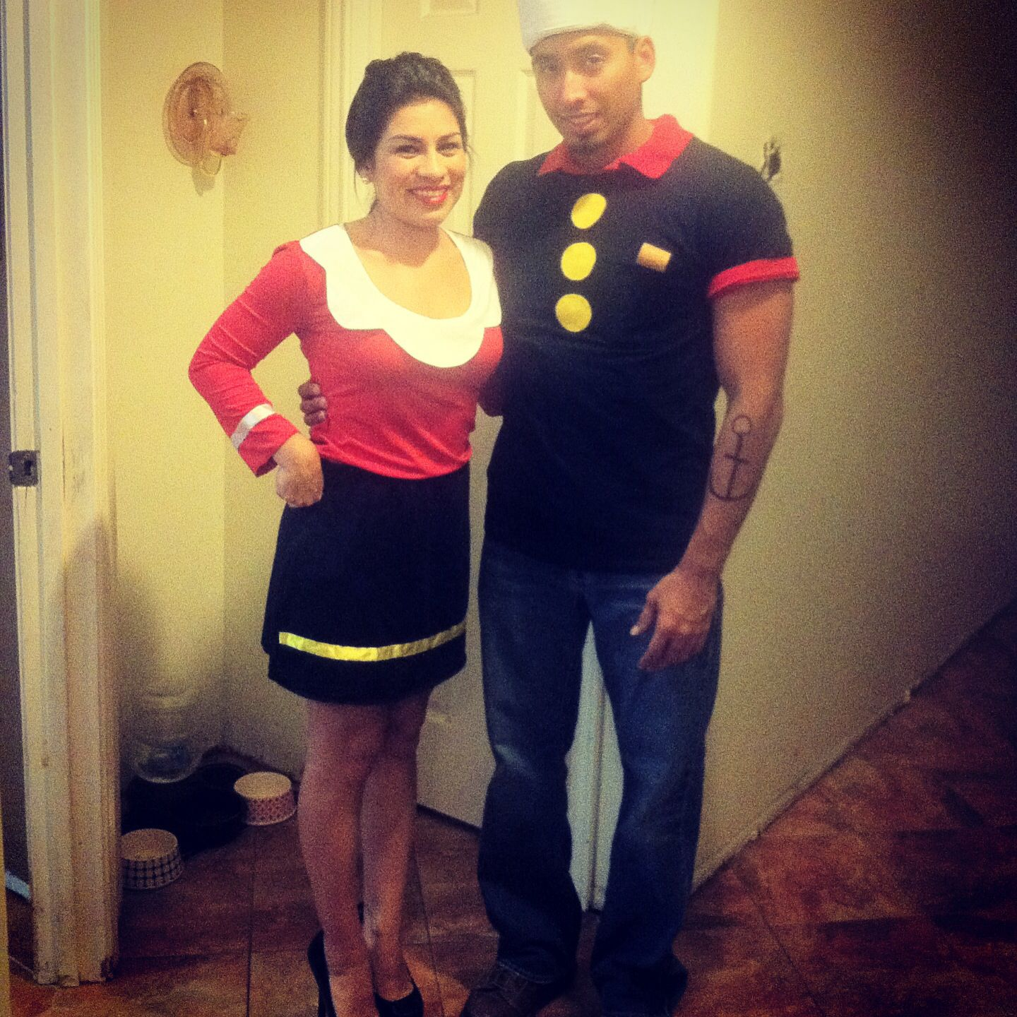 Cute couple costume for a halloween or themed party olive oyl and cute couple costume for a halloween or themed party olive oyl and popeye solutioingenieria Images