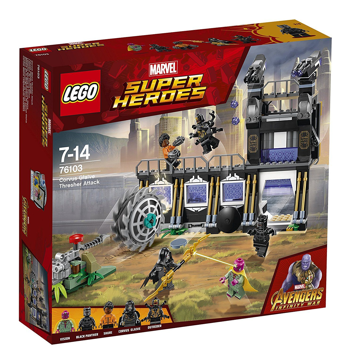 Marvel Avengers Infinity War Lego Sets Out Now Lego Marvel Super Heroes Corvus Glaive Lego Super Heroes