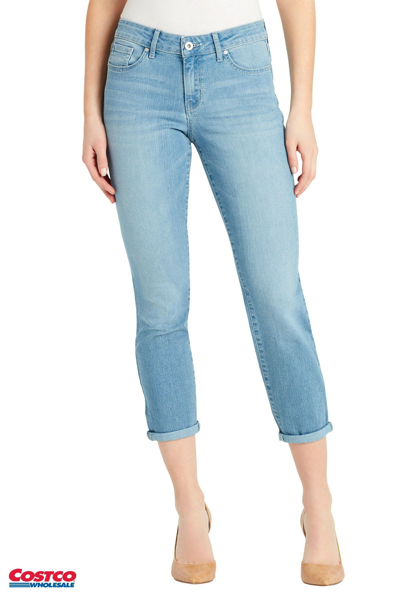 53fae7f550b Jessica Simpson Ladies Crop Jean Update your style with new jeans available at  Costco.