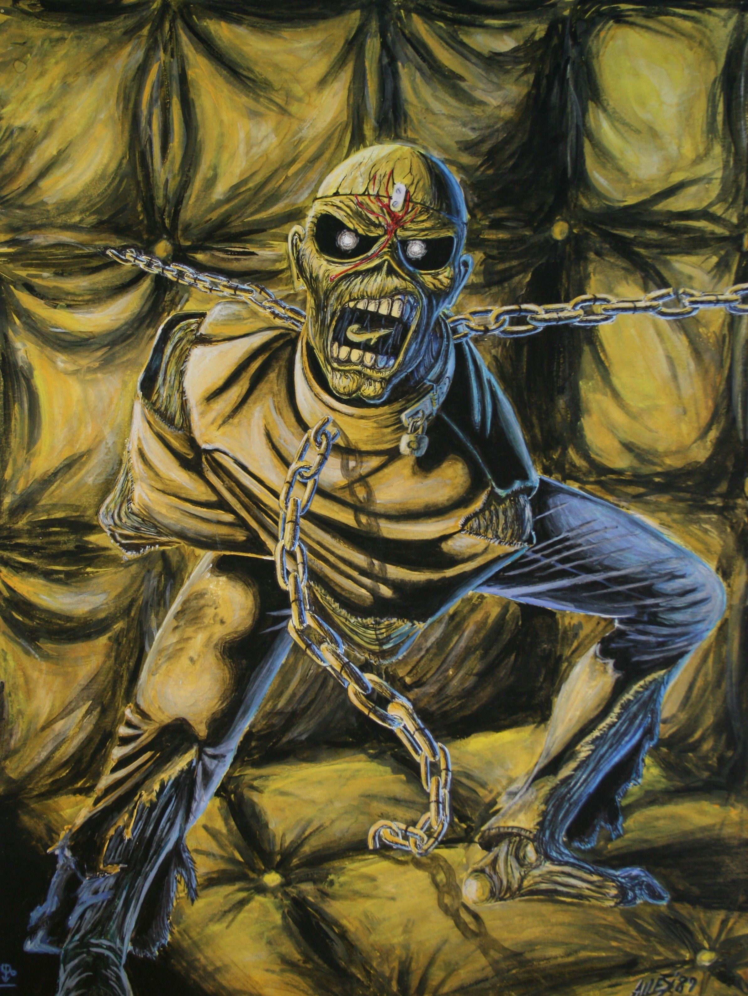 Iron Maiden Eddie the ead Piece of mind Dereck Riggs