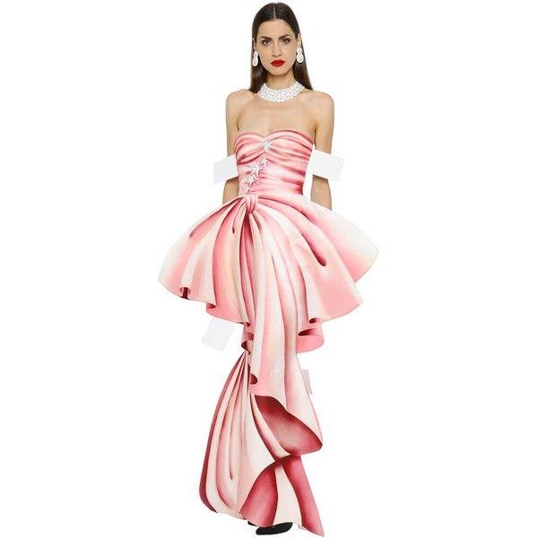 Moschino Women Trompe L\'oeil Printed Gazar Bustier Gown (119,725 DOP ...