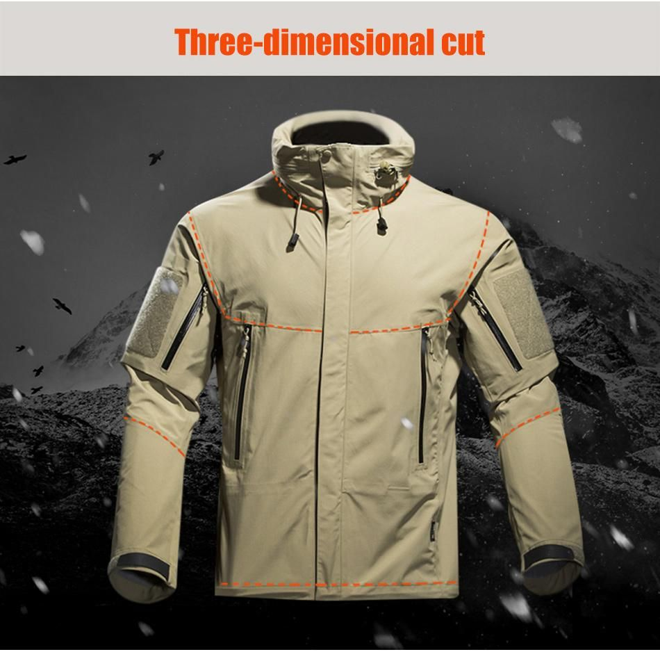 Military Tactical Technical Lightweight Winter Jacket For Men Weatherproof Breathable Hooded In Black Army Green Jackets Winter Jacket Men Winter Jackets [ 938 x 950 Pixel ]