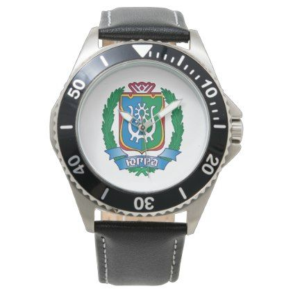 Coat of arms of  Yugra Wristwatch - accessories accessory gift idea stylish unique custom