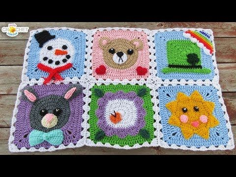 How to Join Your Calendar Blanket Squares - YouTube   Crocheting ...