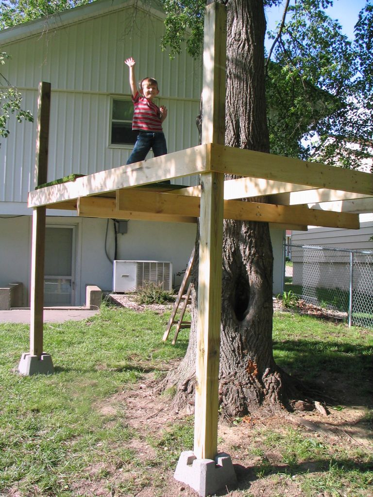 Tree House in progress