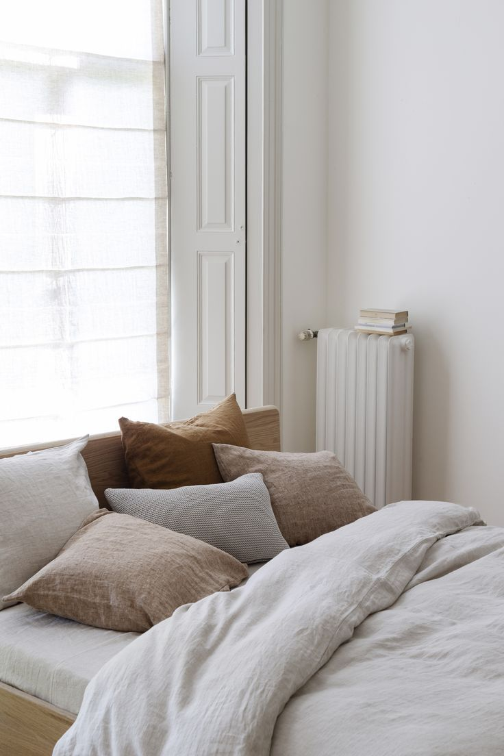 By Mölle is part of Natural home decor -  autumnal colors in the bedroom  Easy and fast with new decorative pillows