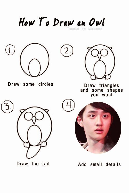 Pin By Noexonolife On Exo Memes Derps Kyungsoo Owls Drawing Kpop Memes