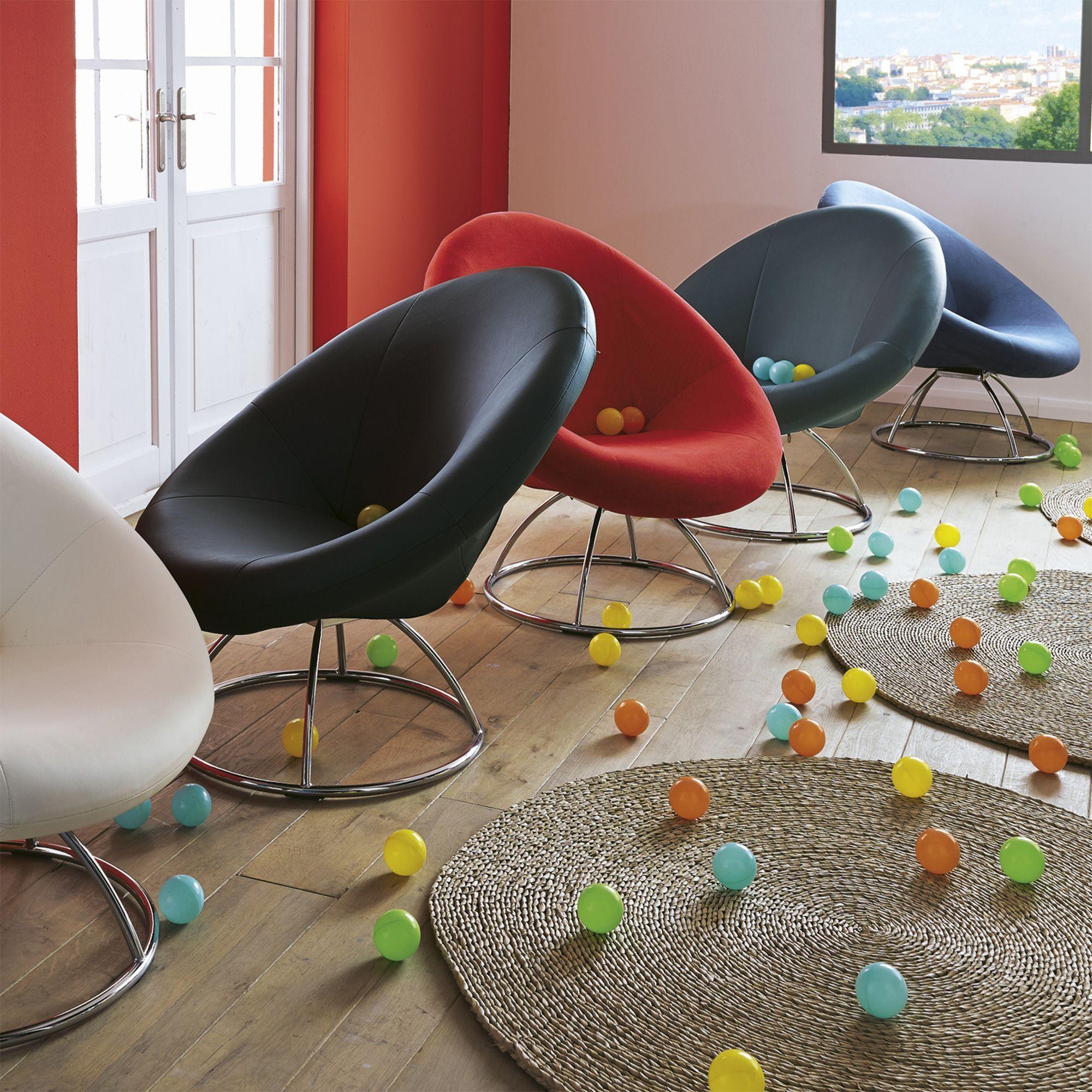 Fauteuil Forme Design Plusieurs Coloris Disponibles Elipse - Fauteuil design pour salon