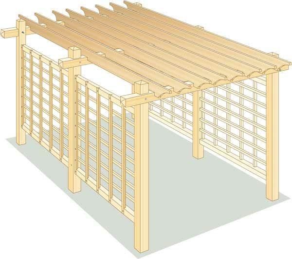 holzpergola selber bauen holzbalken gartenlaube. Black Bedroom Furniture Sets. Home Design Ideas