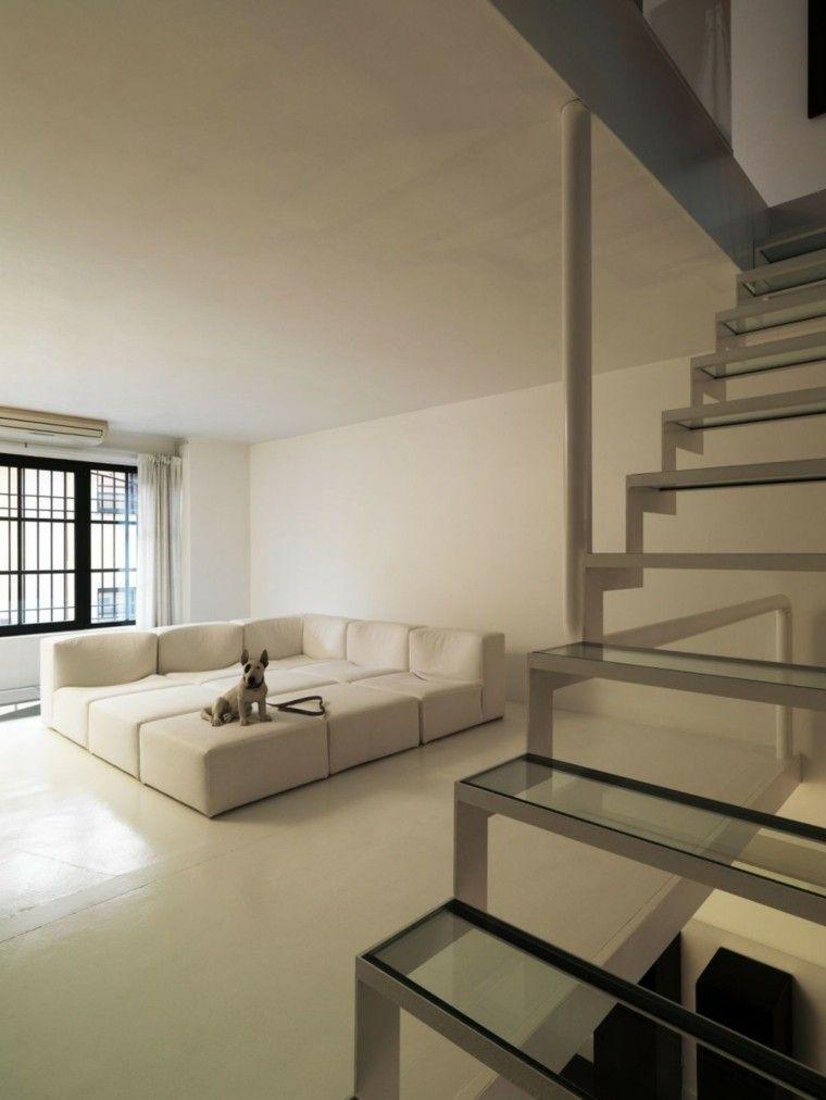 Esquina sofa perro escaleras modernas decoraci n for Escaleras de sala