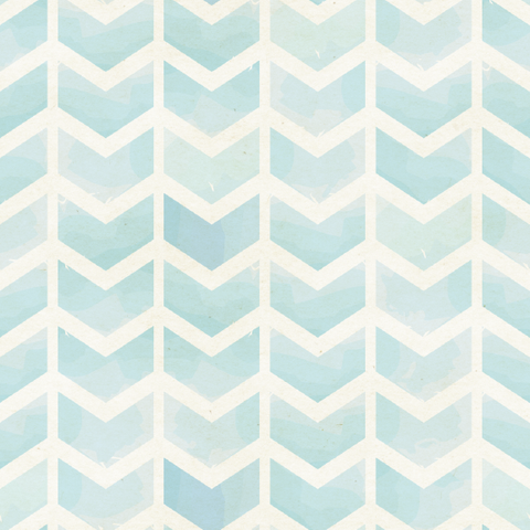 Faded Blue Chevron Removable Wallpaper Wall Decal Watercolor
