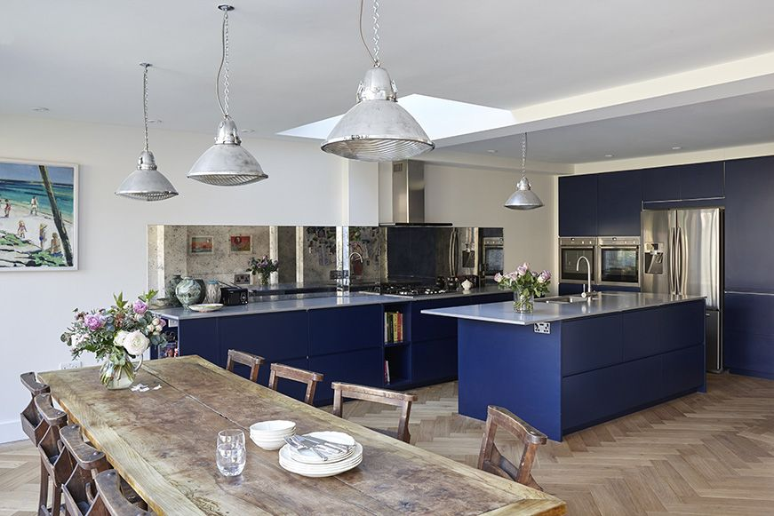 pin by martins camisuli architects on work blue kitchen cabinets blue kitchens kitchen decor on kitchen cabinets blue id=74345