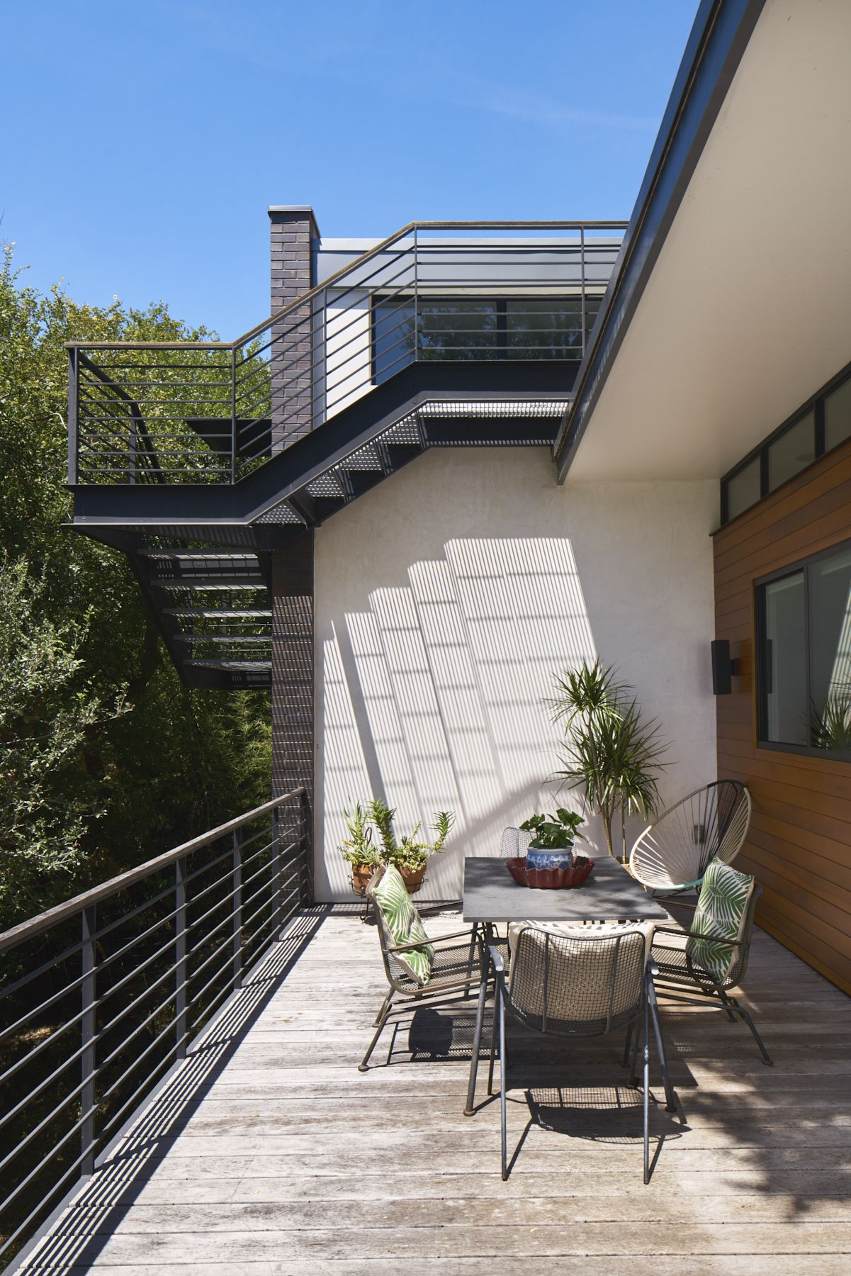 Airole Way Residence Patio Outdoor Stairs Mid Century House
