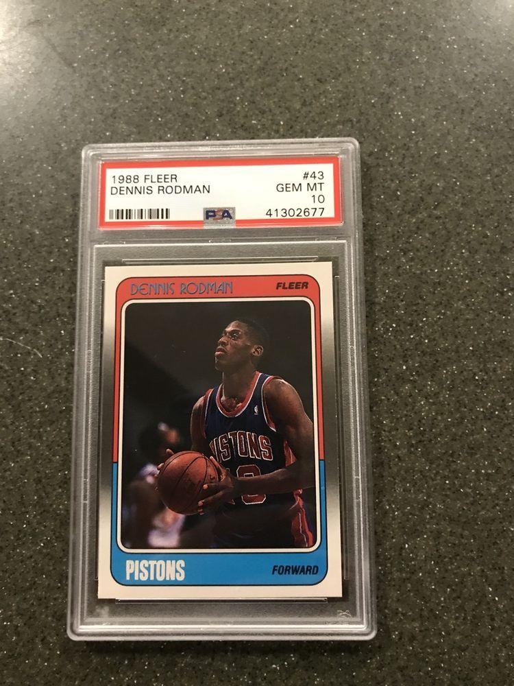 1988-89 Fleer #43 Dennis Rodman Detroit Pistons RC Rookie Basketball Card Verzamelkaarten, ruilkaarten Verzamelkaarten: sport
