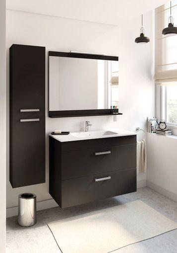 noir black salledebain bathroom meuble lavabo Joli Roca