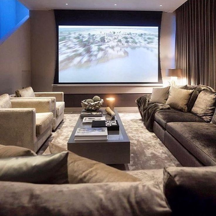 Home Theaters Wall #hometheaters 40+ Awesome Basement Home
