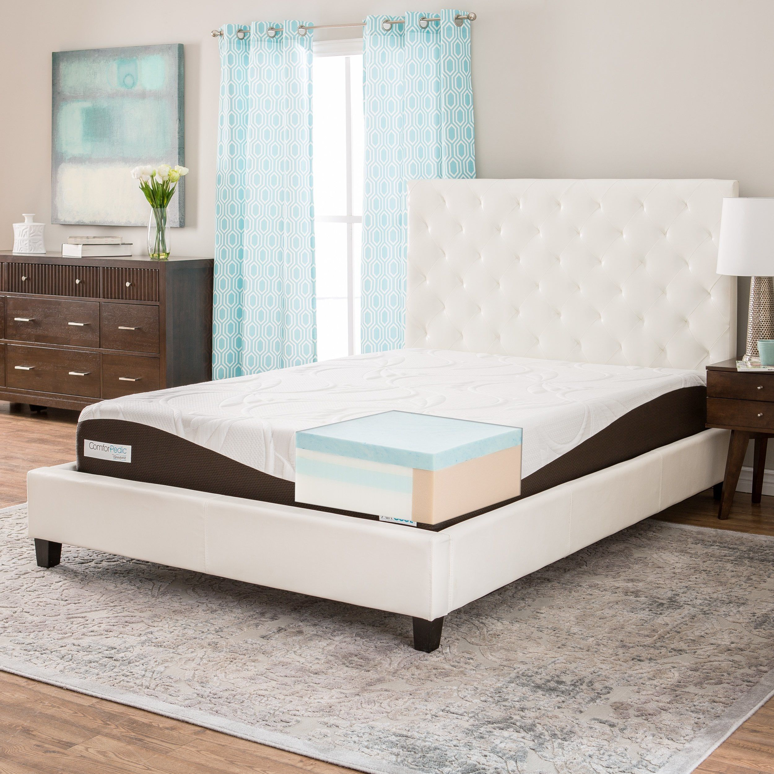 Comforpedic From Beautyrest 10 Inch Gel Memory Foam Mattress Queen