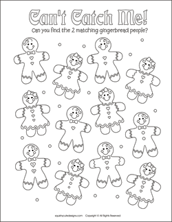 christmas matching games for kids free printable party games and activities christmas coloring pages - Holiday Printables For Kids
