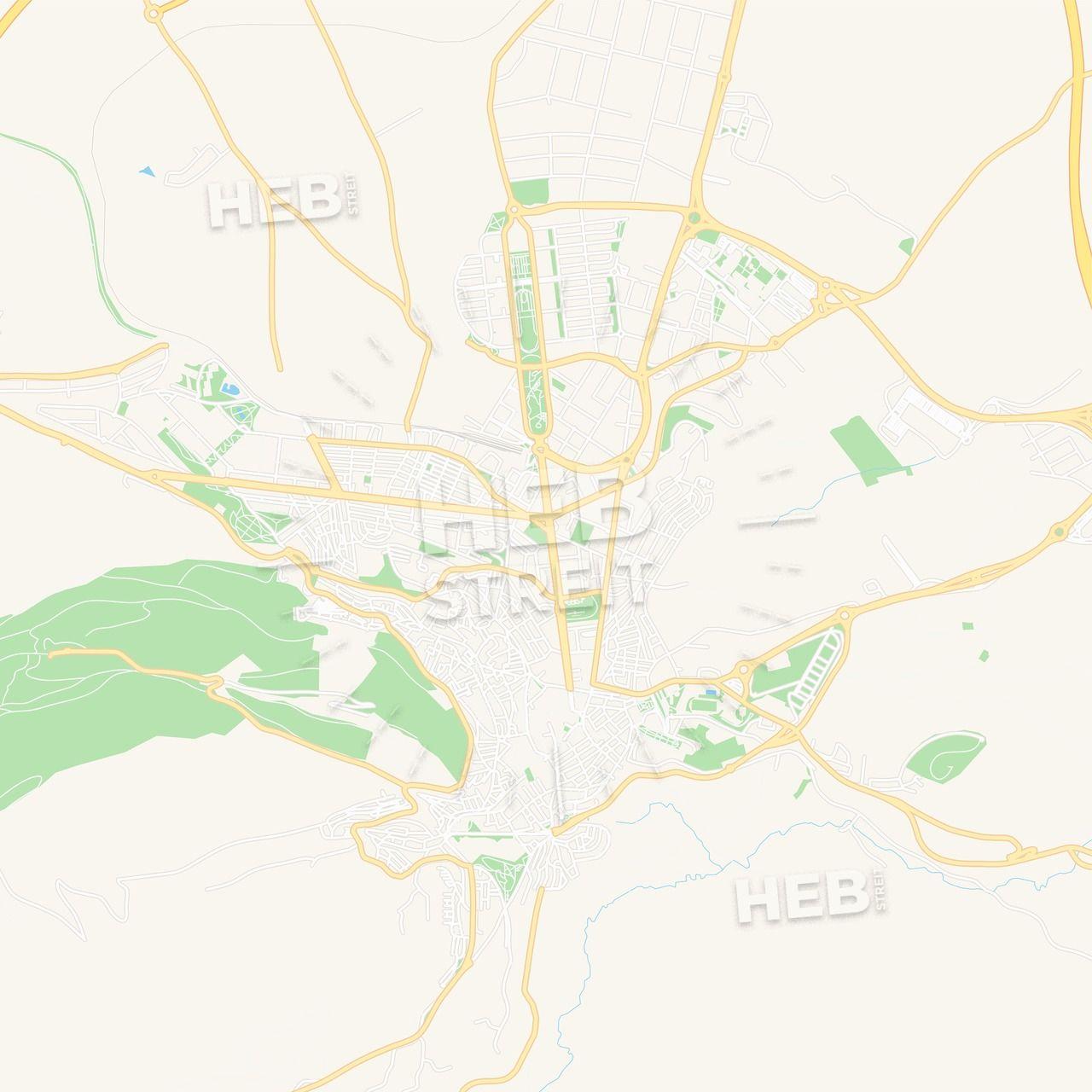 Map Of Spain Jaen.Jaen Spain Vector Map Classic Colors Maps Vector Downloads